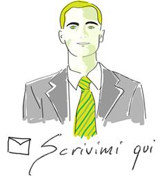 Pulsante contatto email con ritratto - Andrea Cossovel - consulente per la Conversion Rate Optimization